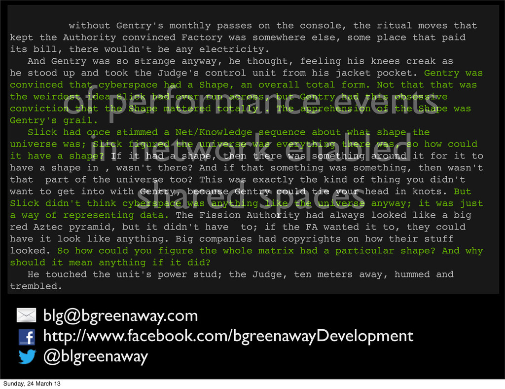 of performance events in network enabled shared...