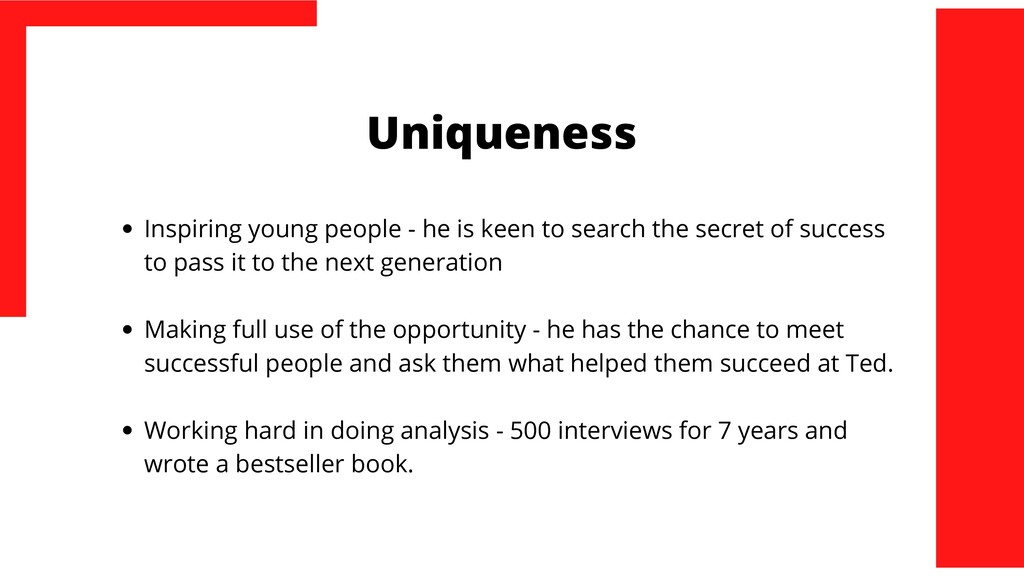 Uniqueness Inspiring young people - he is keen ...