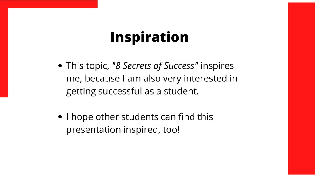 """Inspiration This topic, """"8 Secrets of Success"""" ..."""