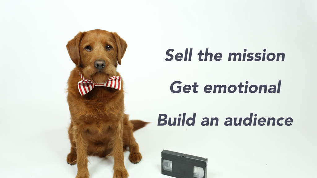 Sell the mission Get emotional Build an audience