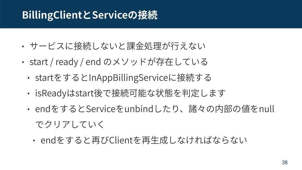 BillingClient Service start / ready / end start...