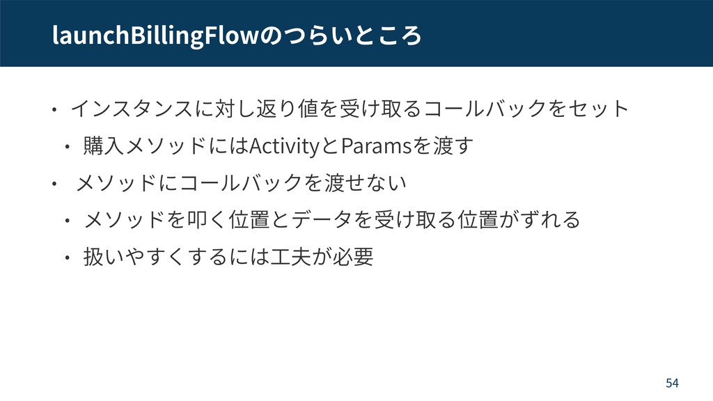 launchBillingFlow Activity Params 54