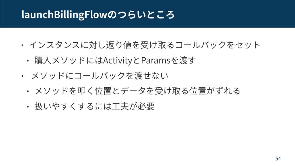 launchBillingFlow Activity Params 54