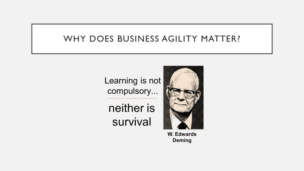 WHY DOES BUSINESS AGILITY MATTER?