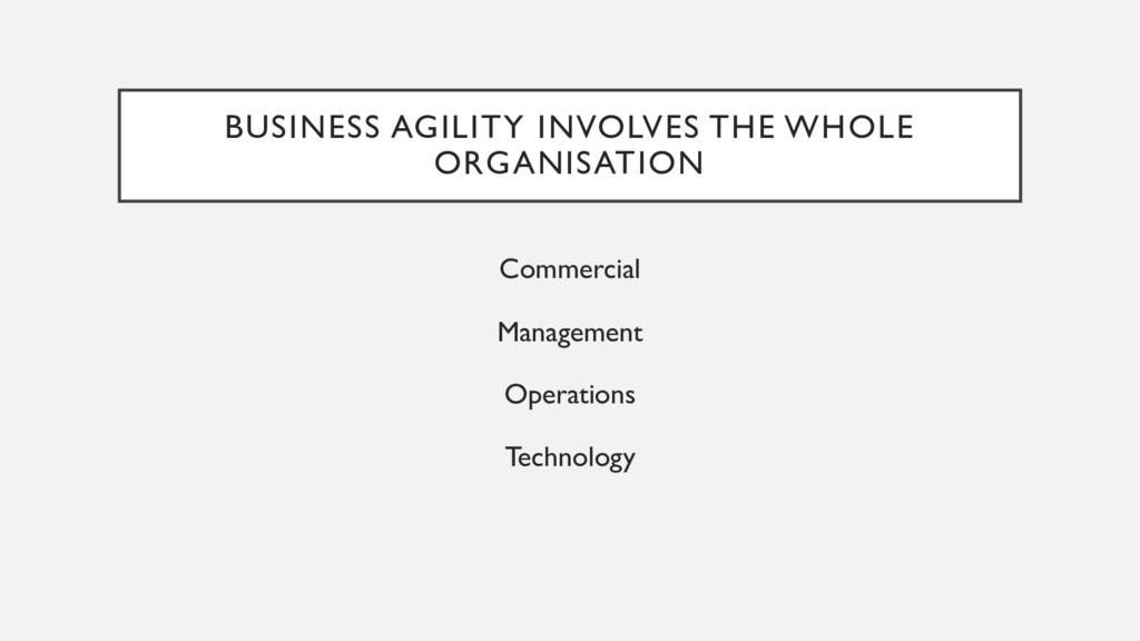 BUSINESS AGILITY INVOLVES THE WHOLE ORGANISATIO...