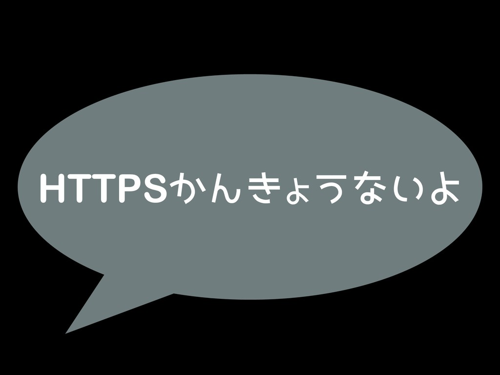 HTTPSかんきょうないよ