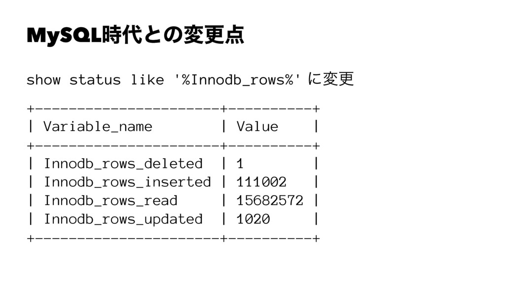 MySQLͱͷมߋ show status like '%Innodb_rows%' ʹ...
