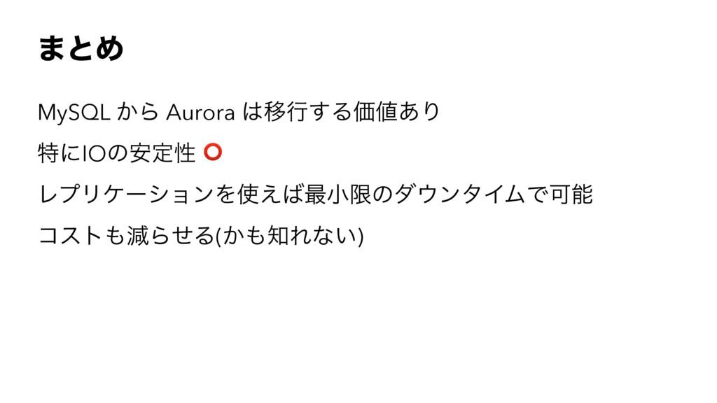 ·ͱΊ MySQL ͔Β Aurora Ҡߦ͢ΔՁ͋Γ ಛʹIOͷ҆ఆੑ ⭕ ϨϓϦέʔγ...