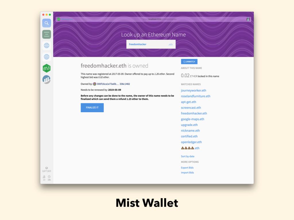 Mist Wallet
