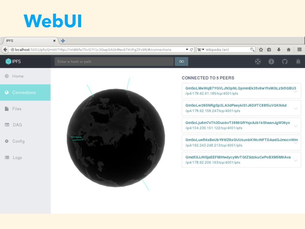 WebUI