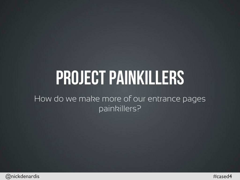 @nickdenardis #cased4 Project Painkillers How d...