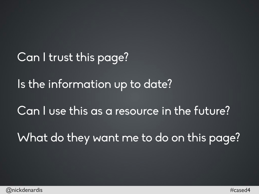 @nickdenardis #cased4 Can I trust this page? Is...