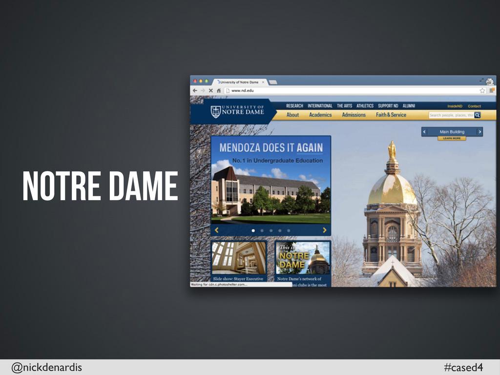 @nickdenardis #cased4 Notre Dame