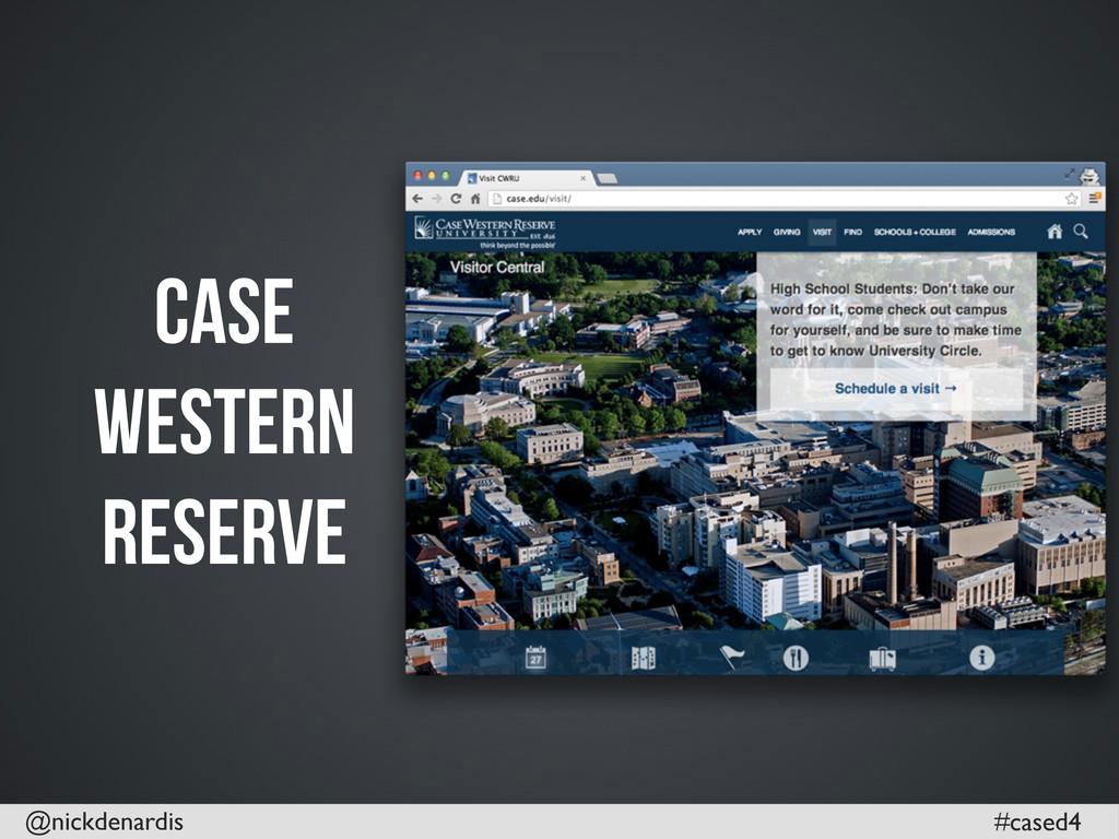 @nickdenardis #cased4 Case Western Reserve