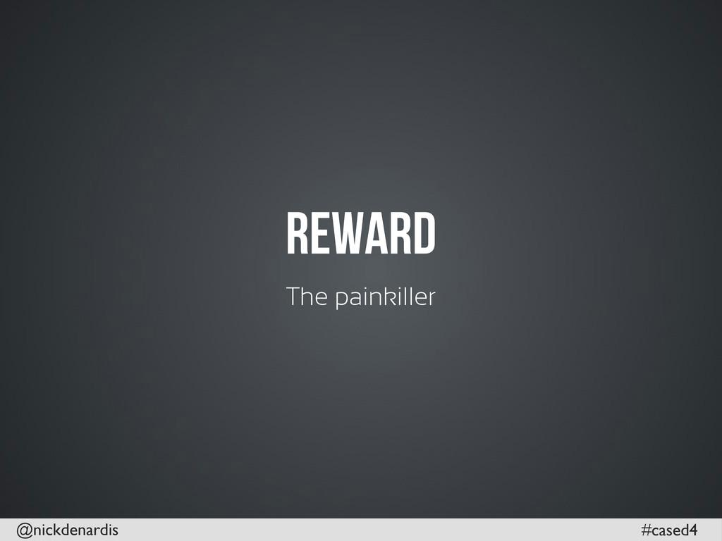 @nickdenardis #cased4 Reward The painkiller