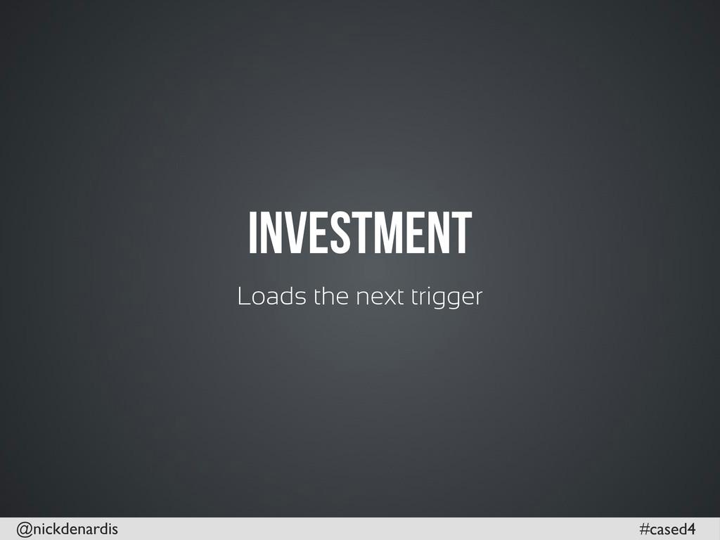 @nickdenardis #cased4 Investment Loads the next...