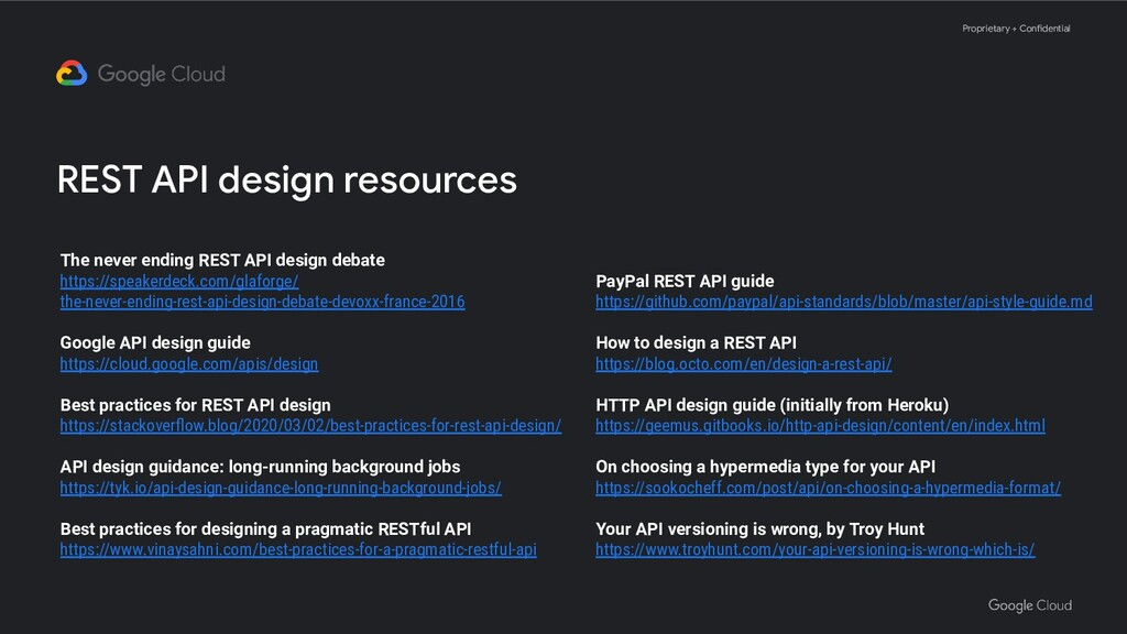 Proprietary + Confidential REST API design reso...