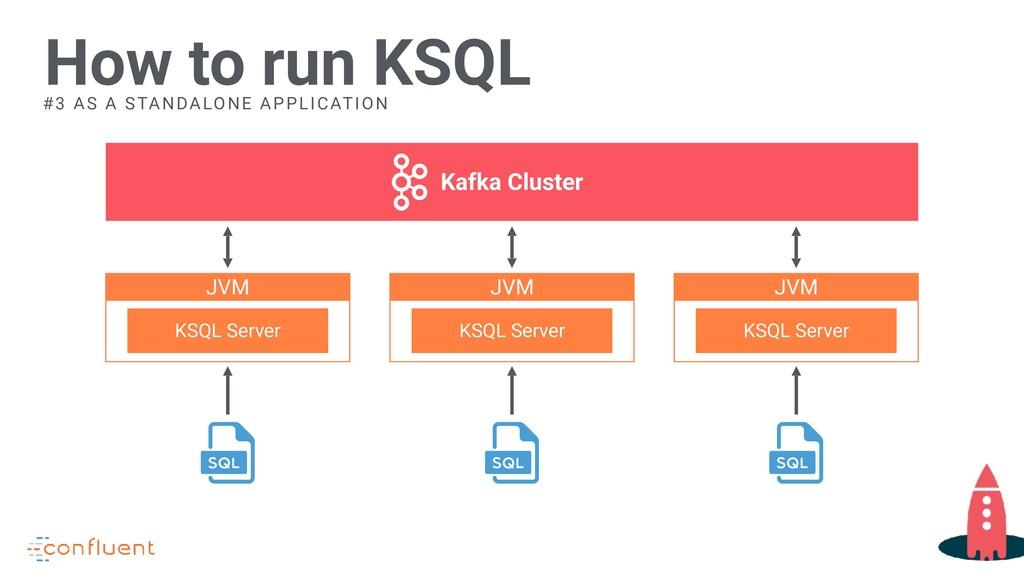 How to run KSQL Kafka Cluster JVM KSQL Server J...