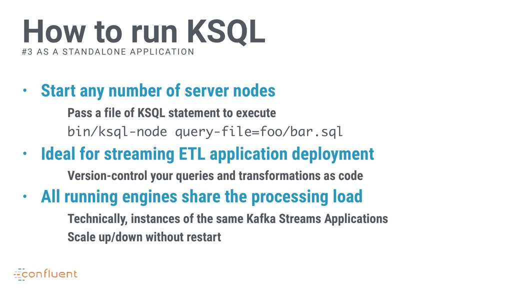• Start any number of server nodes Pass a file ...