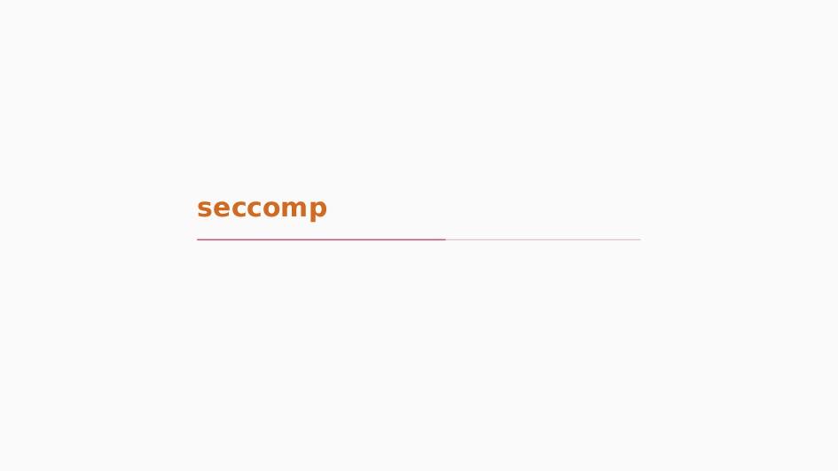seccomp