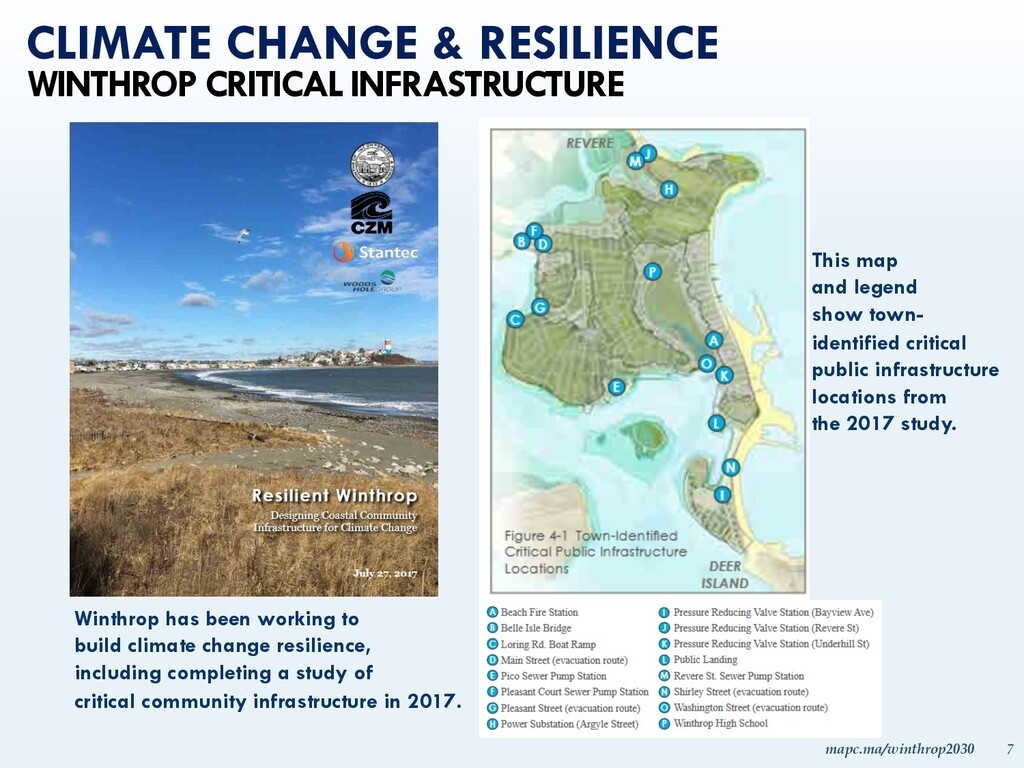 mapc.ma/winthrop2030 7 CLIMATE CHANGE & RESILIE...