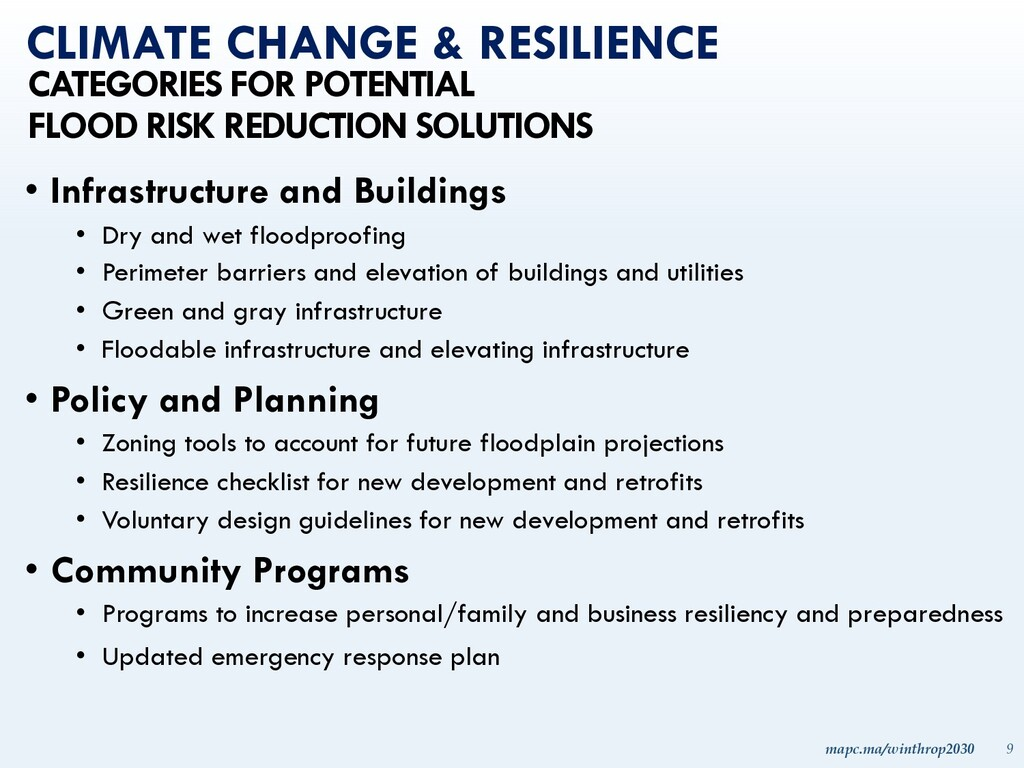 mapc.ma/winthrop2030 9 • Infrastructure and Bui...