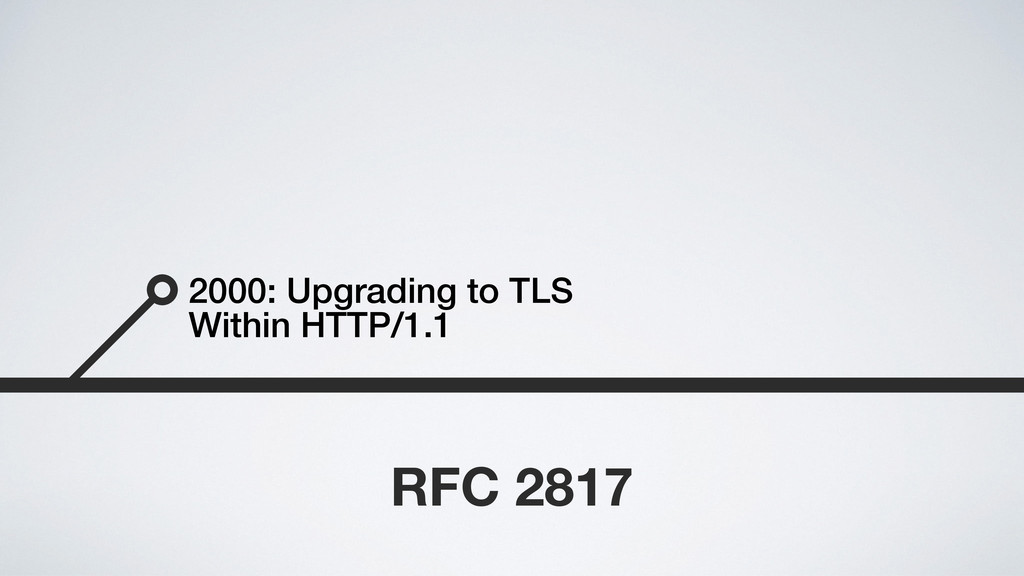 2000: Upgrading to TLS Within HTTP/1.1 RFC 2817