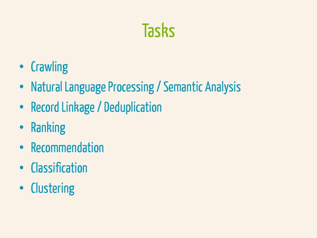 • Crawling • Natural Language Processing / Se...