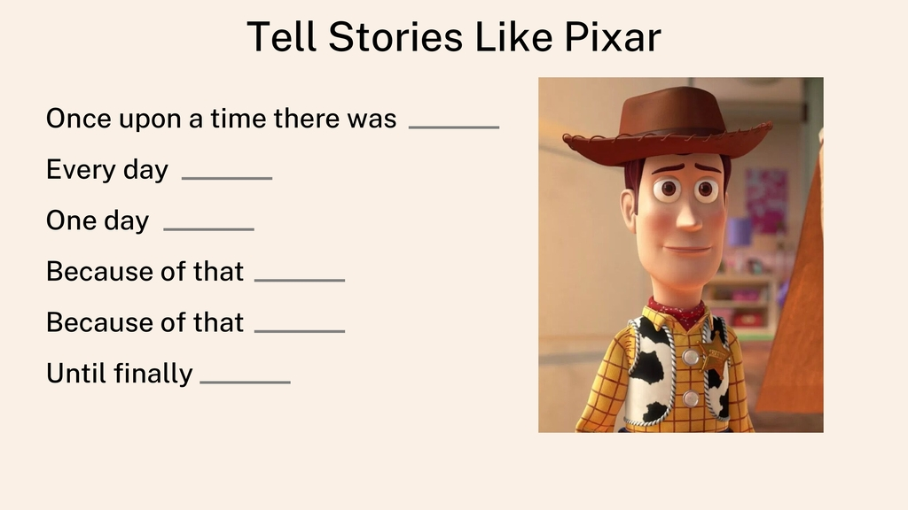 Tell Stories Like Pixar Once upon a time there ...