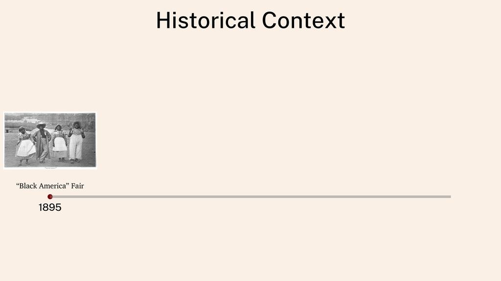 """Historical Context 1895 """"Black America"""" Fair"""