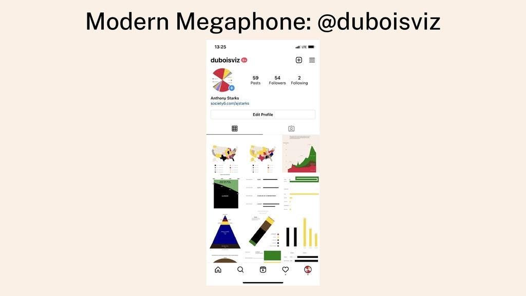 Modern Megaphone: @duboisviz