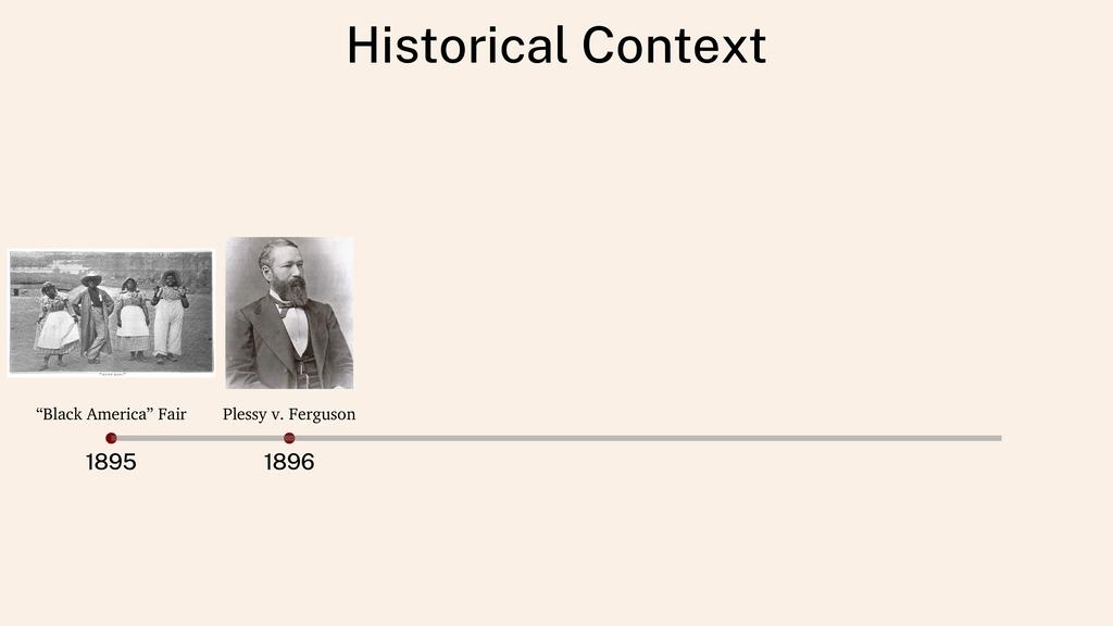 """Historical Context 1895 1896 """"Black America"""" Fa..."""