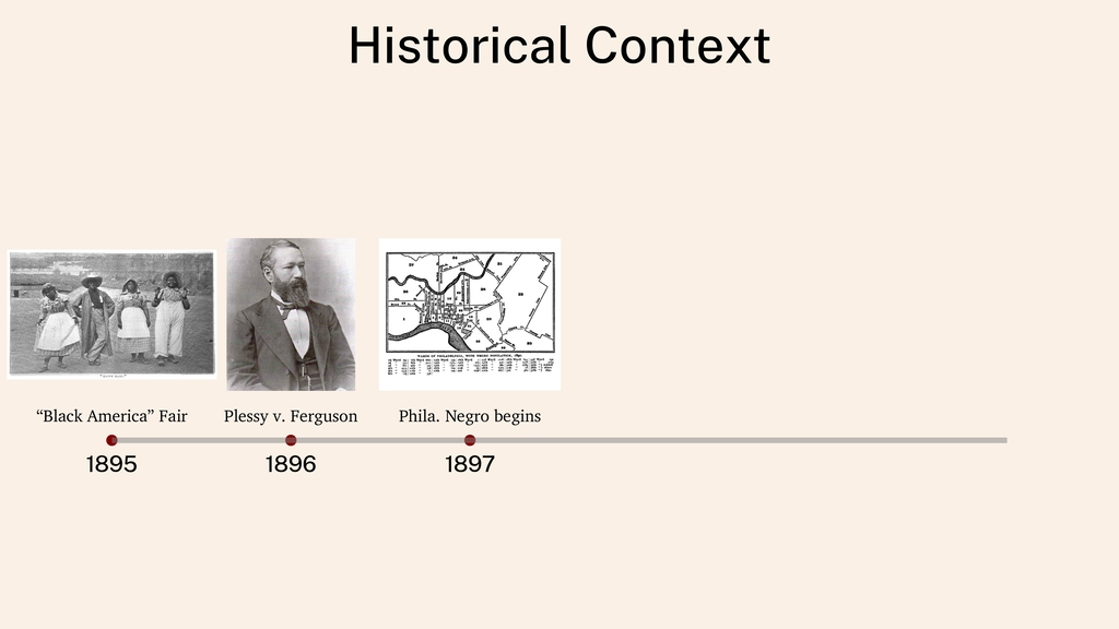 "Historical Context 1895 1896 1897 ""Black Americ..."