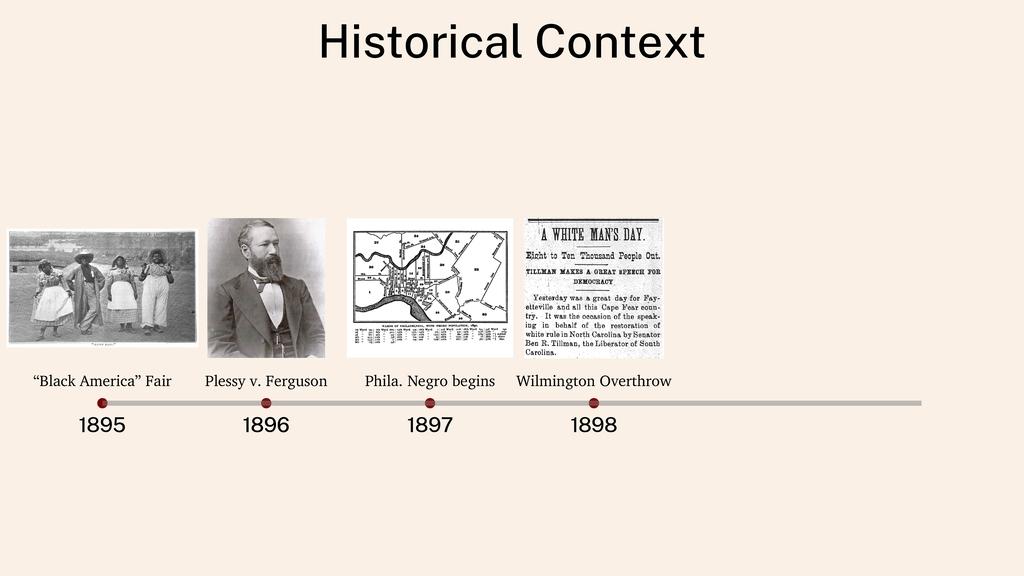 "Historical Context 1895 1896 1896 1897 1898 ""Bl..."