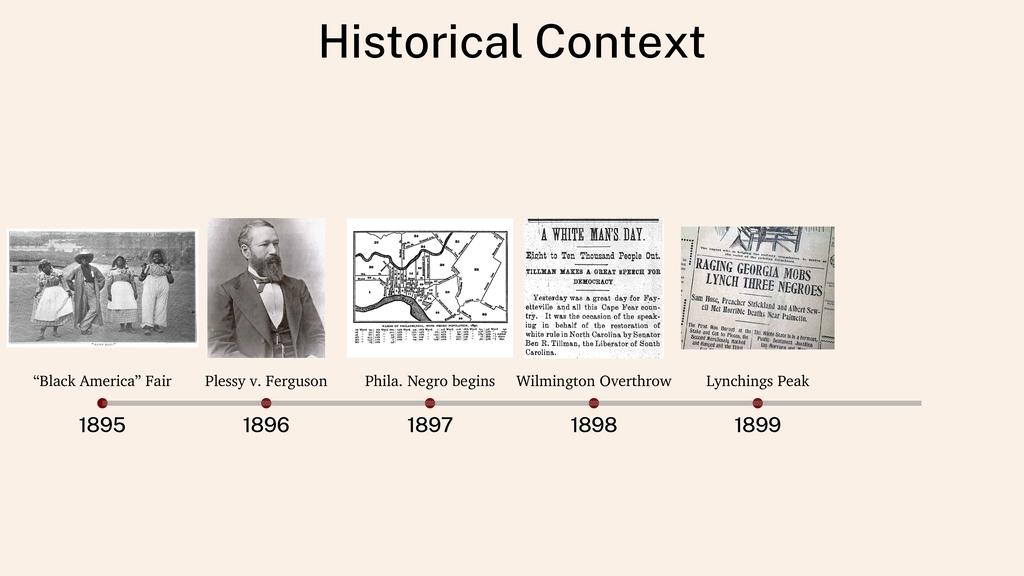 "Historical Context 1895 1896 1897 1898 1899 ""Bl..."