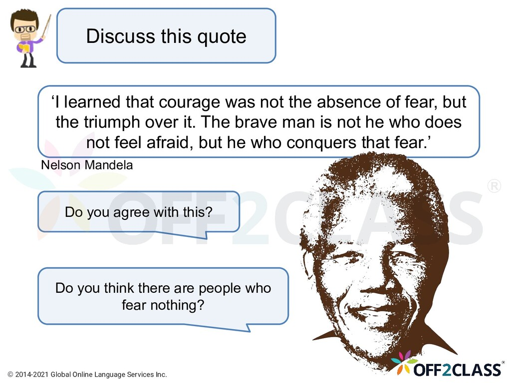 Discuss this quote 'I learned that courage was ...