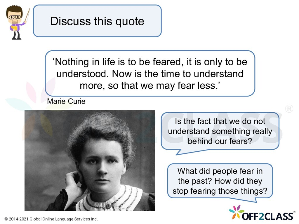 Discuss this quote What did people fear in the ...