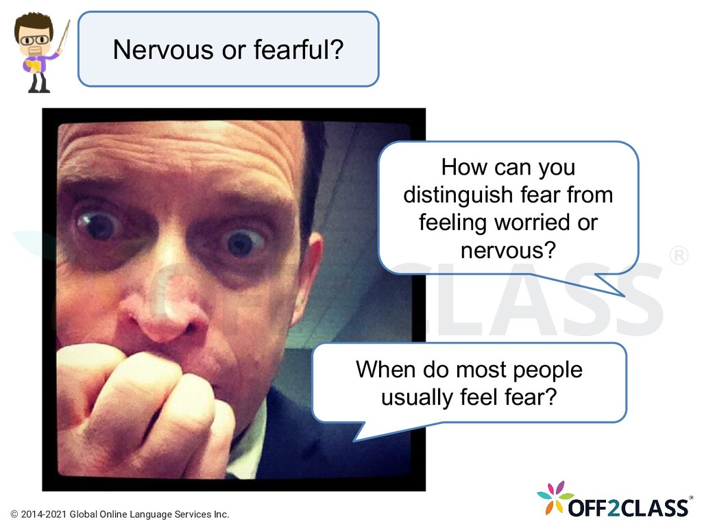 Nervous or fearful? How can you distinguish fea...