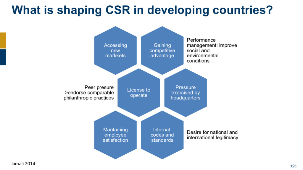 What is shaping CSR in developing countries? 12...