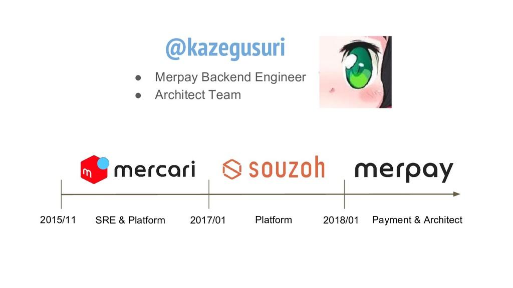 @kazegusuri ● Merpay Backend Engineer ● Archite...