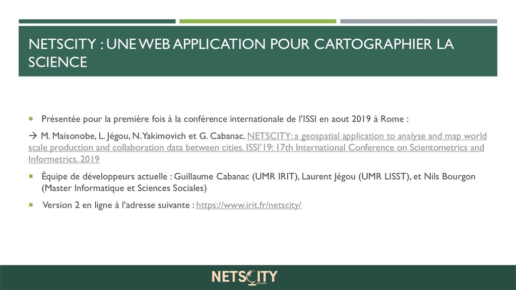 NETSCITY : UNE WEB APPLICATION POUR CARTOGRAPHI...