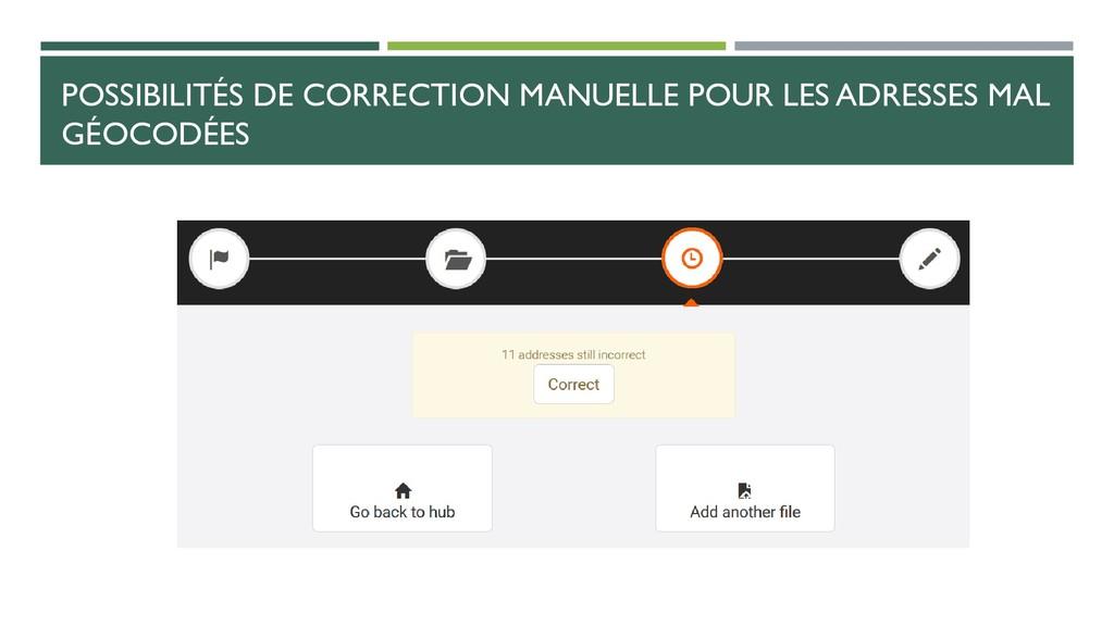POSSIBILITÉS DE CORRECTION MANUELLE POUR LES AD...