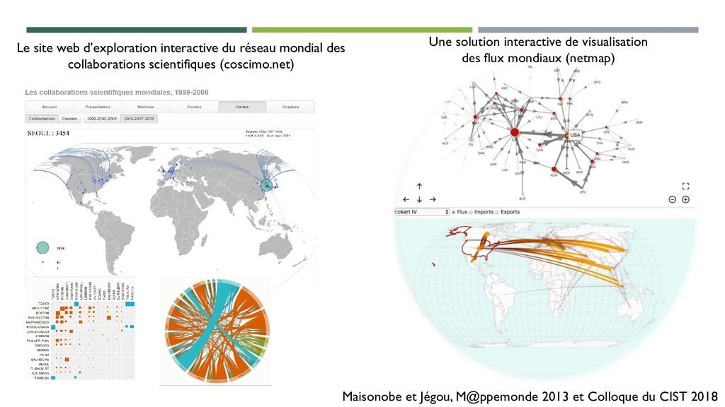 Maisonobe et Jégou, M@ppemonde 2013 et Colloque...