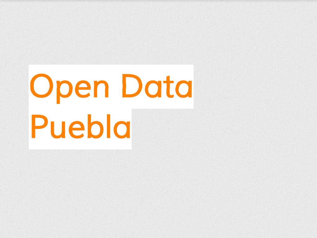 Open Data Puebla