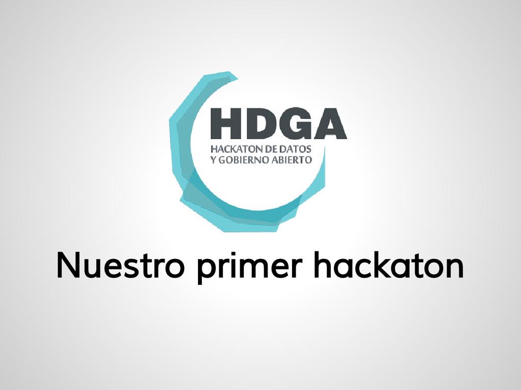 Nuestro primer hackaton