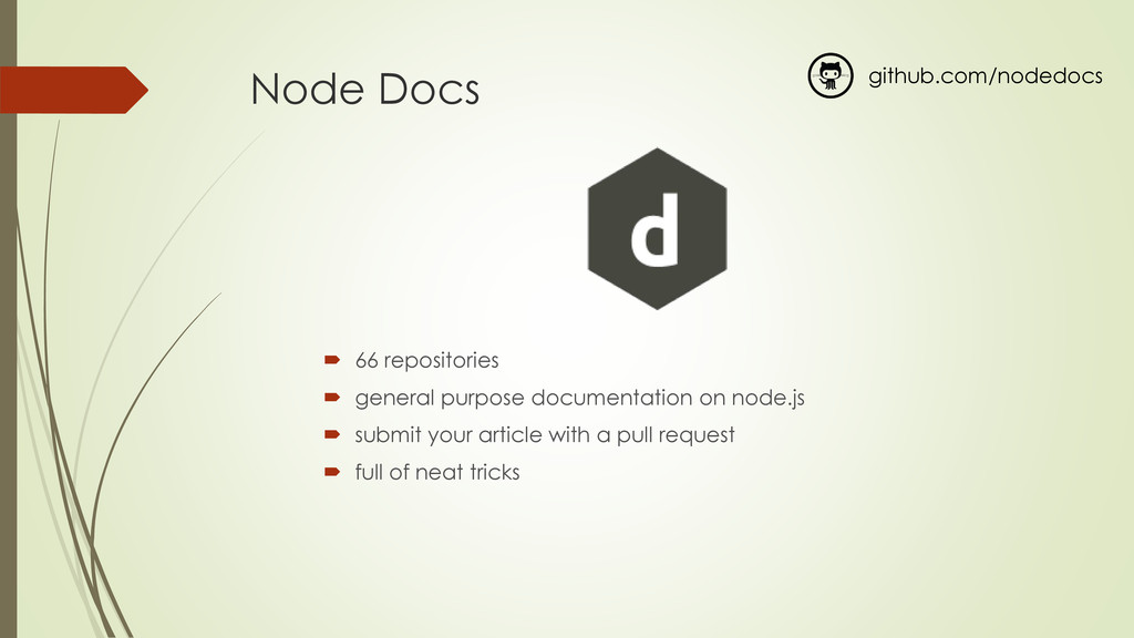 Node Docs  66 repositories  general purpose d...