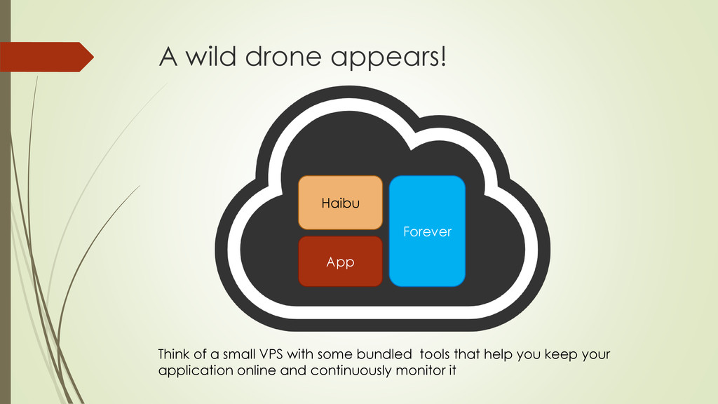 A wild drone appears! App Think of a small VPS ...