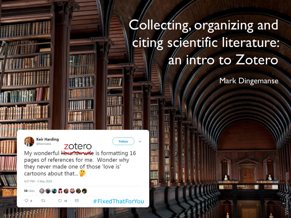Collecting, organizing and citing scientific li...