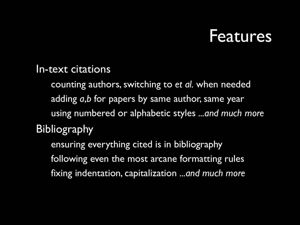 In-text citations counting authors, switching t...