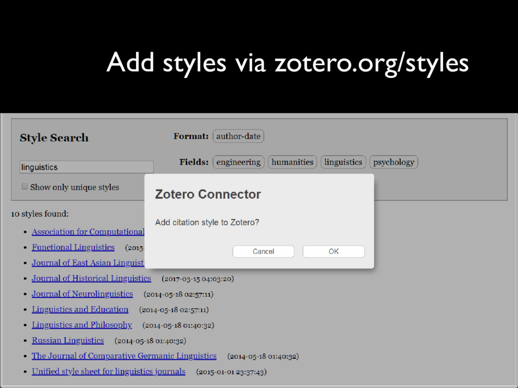 Go to zotero.org/styles Find your desired citat...